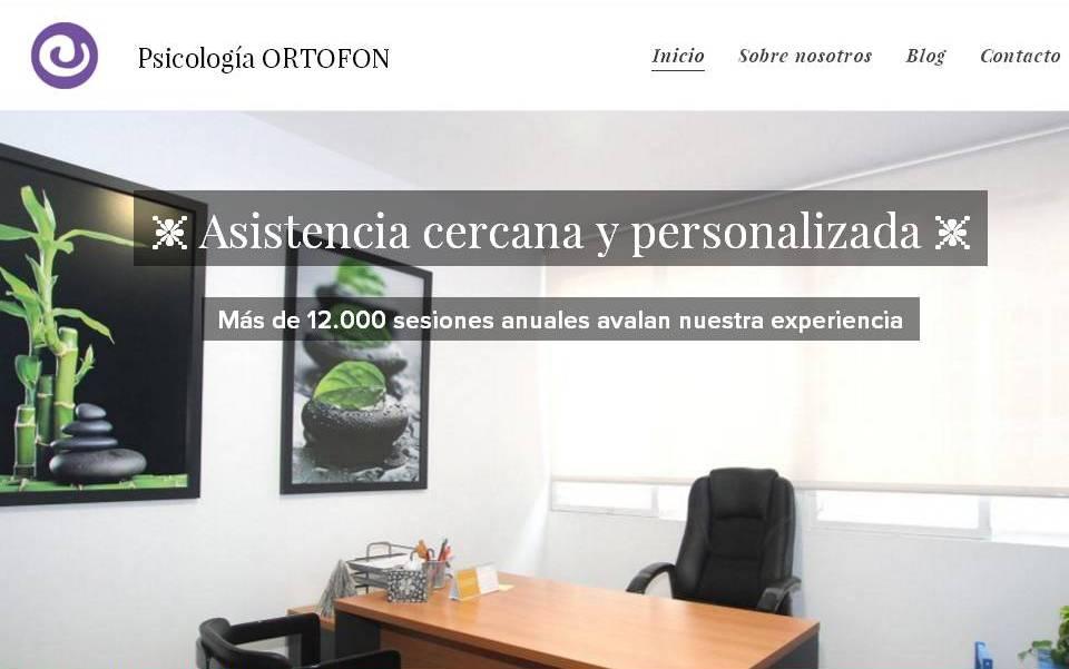 Descubre la web destinada al área de Psicología de Ortofón