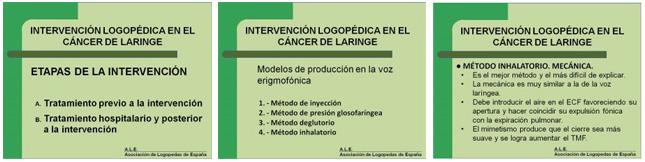 I Jornada de Intervención Logopédica en el Cáncer de Laringe