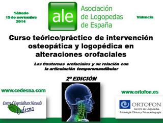 Curso intervención osteopática y logopédica en alteraciones orofaciales