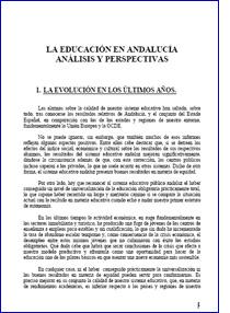La educación en Andalucía análisis y perspectivas