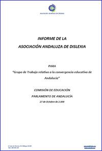 Informe sobre la Dislexia