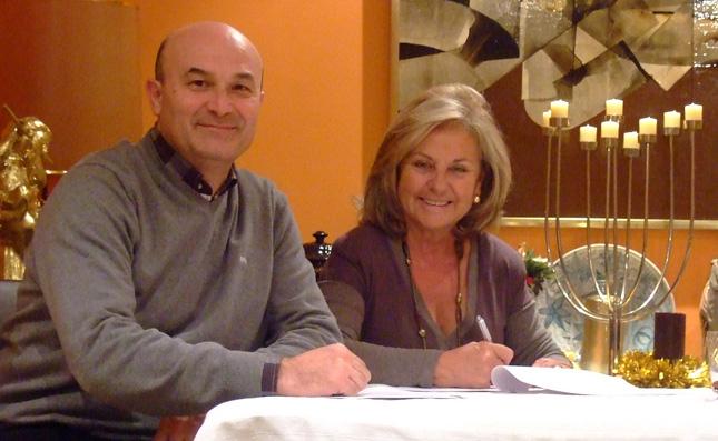 Ismael y Teresa Estellés firmado el convenio de colaboración con la Asociación de Logopedas de España