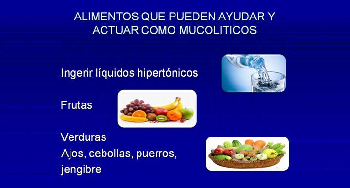 Qué alimentos pueden ayudar y actuar como mucolíticos