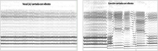 La regularidad del vibrato señala la estabilidad o repetitividad de las modulaciones